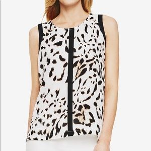 Vince Camuto Spotted Lynx' Sleeveless Blouse NEW